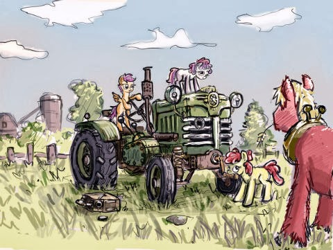 Cutie Mark Crusaders Tractor drivers