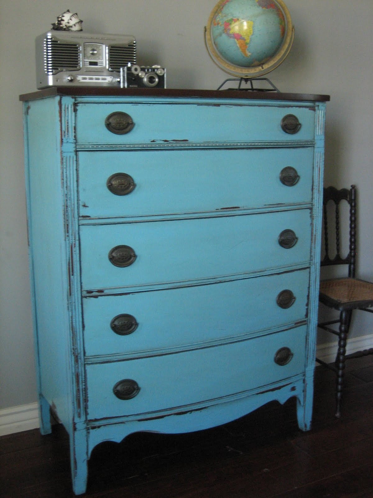 European Paint Finishes Two Antique Dressers