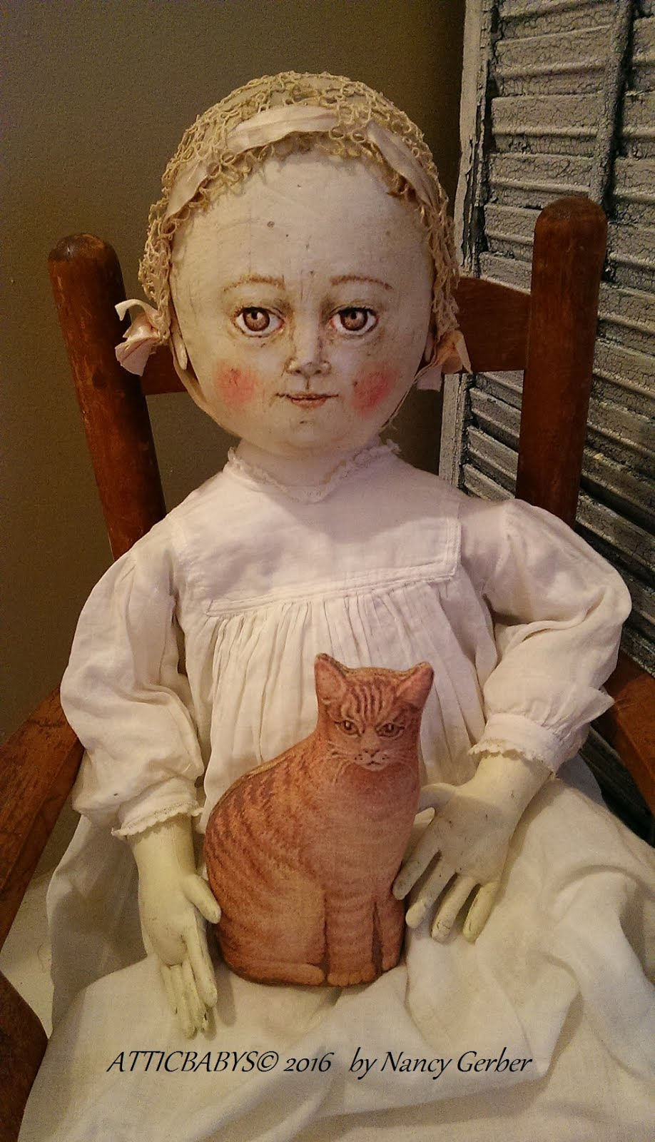 Painted cloth, larger doll 2016