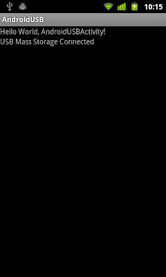 實施廣播接收器(BroadcastReceiver)檢測USB大容量存儲模式(USB Mass Storage mode)