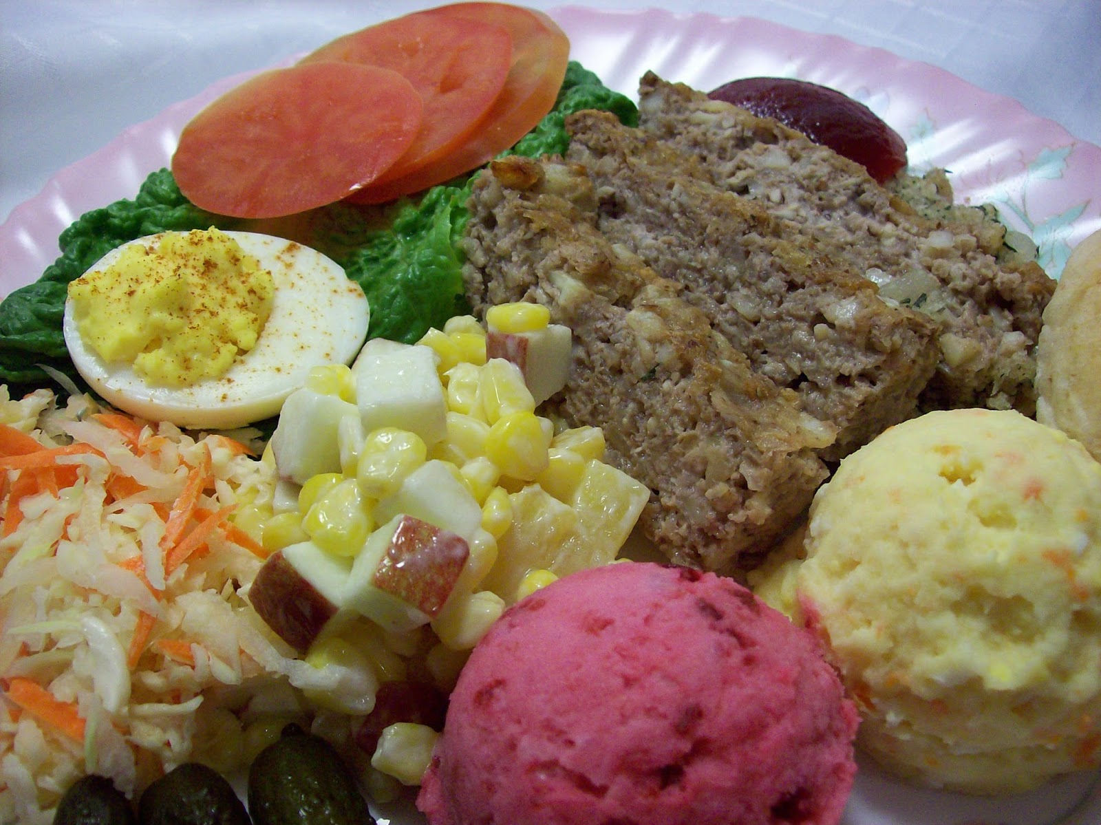 Newfoundland Cold Plate and Mustard Potato Salads are traditional on a  #996232
