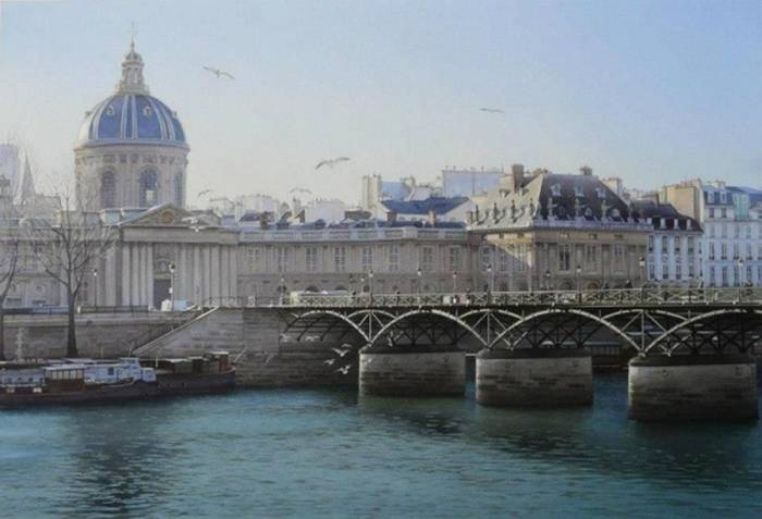 Thierry Duval «View of the French Academy of Arts».""