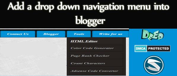 Add+a+drop+down+navigation+menu+into+blogger-skillblogger.com