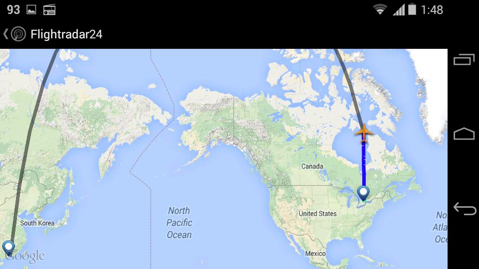 Strange Interesting Flight Routes - Greenland latitude