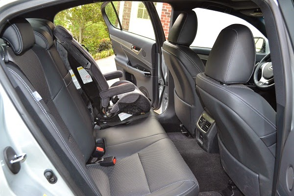 GS 350 rear interior