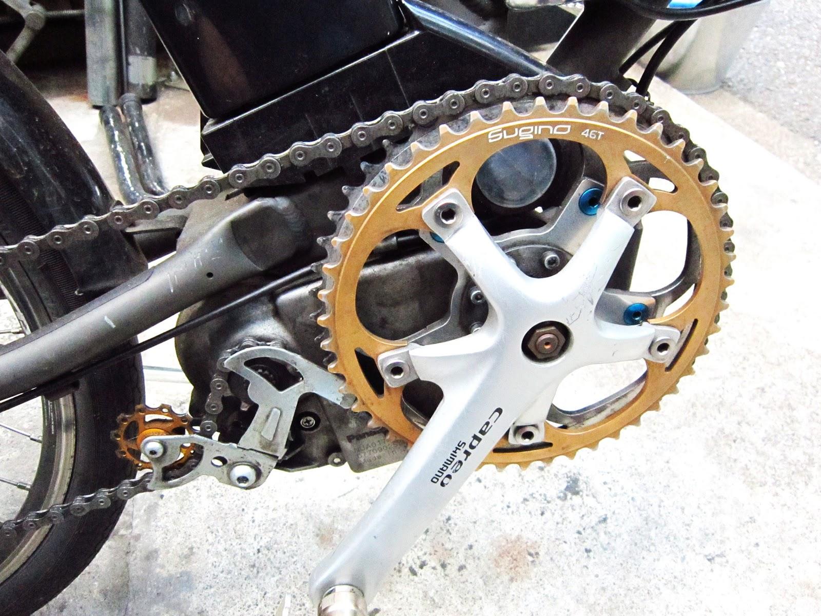 自転車の 3輪自転車 電動 パナソニック : フロントチェーンリングも大径 ...