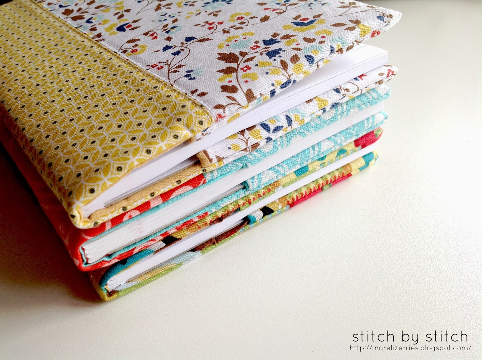 How To Make A Quilted Book Cover : Stitch by fabric book cover tutorial