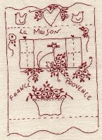 Redwork house Stitchery