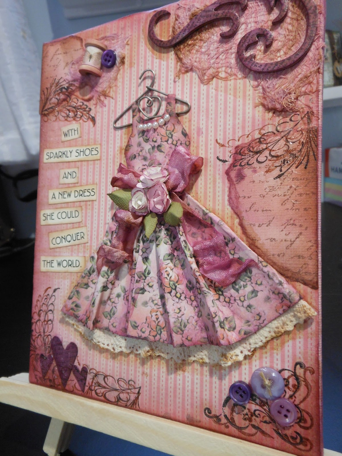 Mixed Media Event A New Dress Canvas With Bonnie Card
