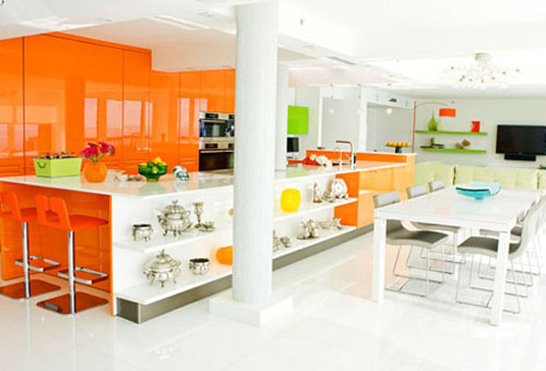 Modern kitchen color schemes the kitchen design - Bright kitchen paint ideas ...