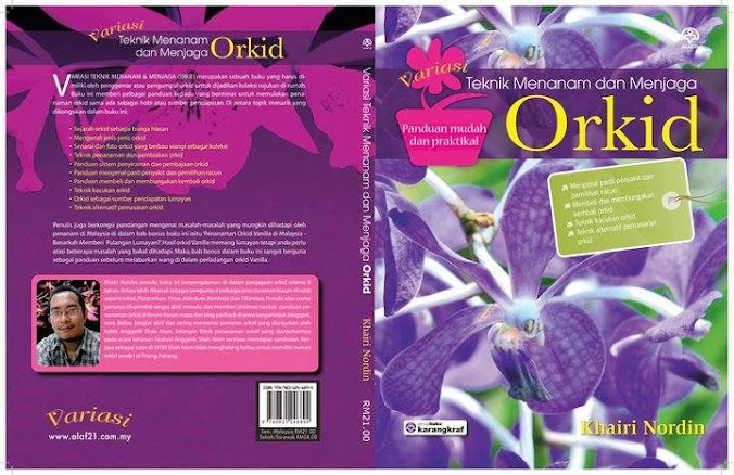 Nak belajar tanam Orkid? Dapatkan buku hebat ini :)