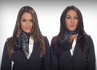las atrevidas gemelas de la WWE, apasionadas y sensuales, se toman los cuadriláteros en la lucha libre como las mas bellas