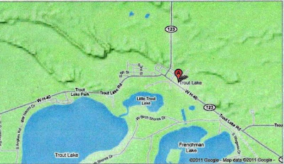 Map with Trout Lake, Mi Eskers