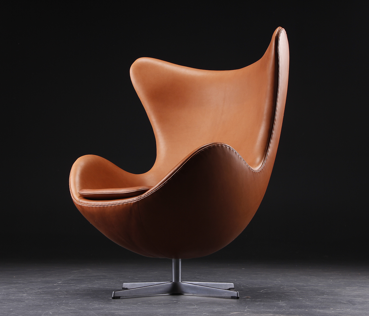 Arne jacobsen egg chair leather - Original Fritz Hansen Scandinavian Modern Leather Lounge Arne Jacobsen Egg Chair