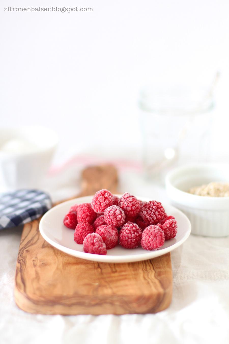 Rezept Overnight Oats mit Himbeeren Zitronenbaiser Foodblog