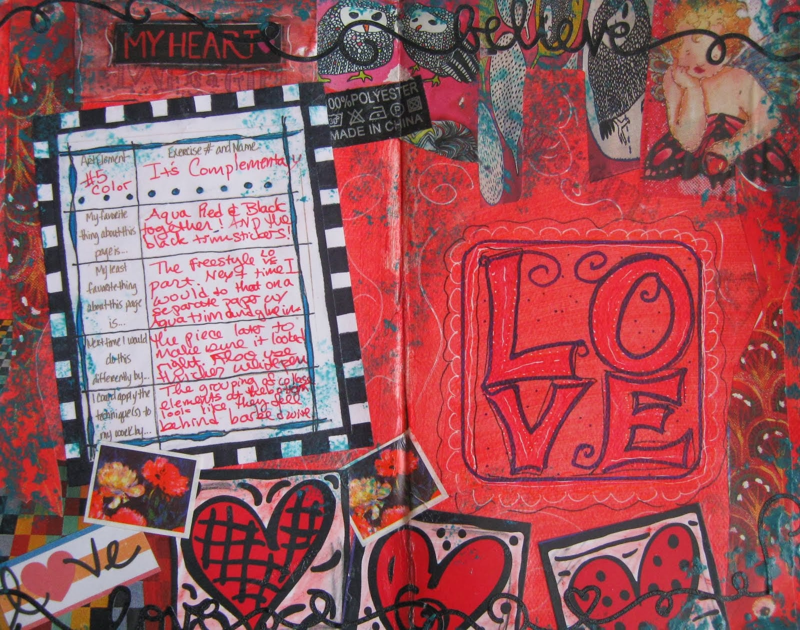 Complementary Love Journal Pages