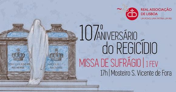 MISSAS DE SUFRÁGIO NO 107º ANIVERSÁRIO DO REGICÍDIO