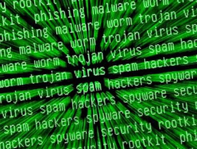 virus, spam,spyware, trojan