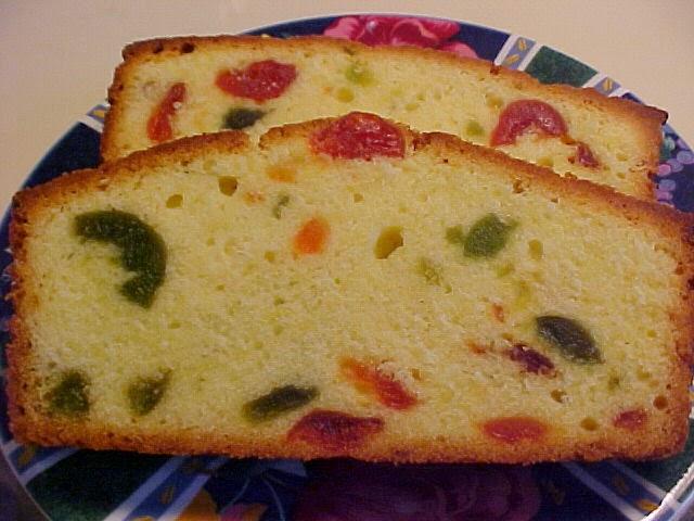 Cake aux cerises confites
