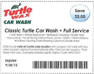 Turtle Wax Classic Turtle Car Wash Coupon