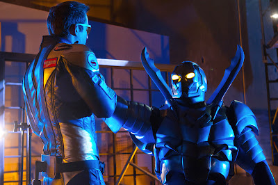 "Smallville - ""Booster"" - Jaden Brandt Bartlett as the Blue Beetle & Eric Martsolf as Booster Gold"