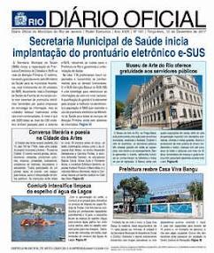 DIÁRIO OFICIAL - 12/12/2017 - Prefeitura do Rio de Janeiro - 01/12/2017