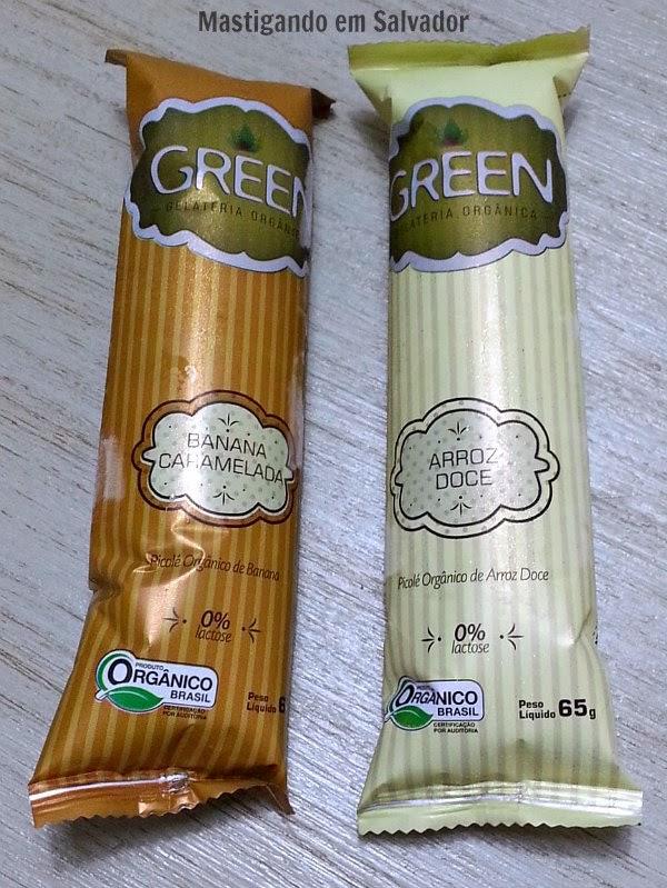 Green Gelateria Orgânica: Picolés nos sabores Banana Caramelada e Arroz Doce