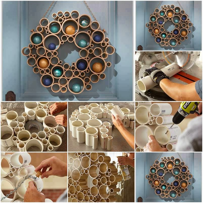 DIY PVC Pipe Christmas Decor