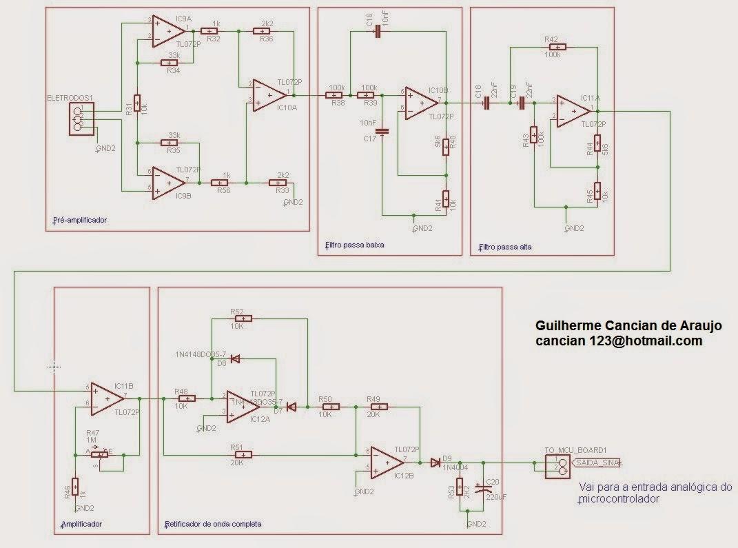 Circuito Eletronico : Desenvolvimento de uma mão biônica circuito eletrônico completo