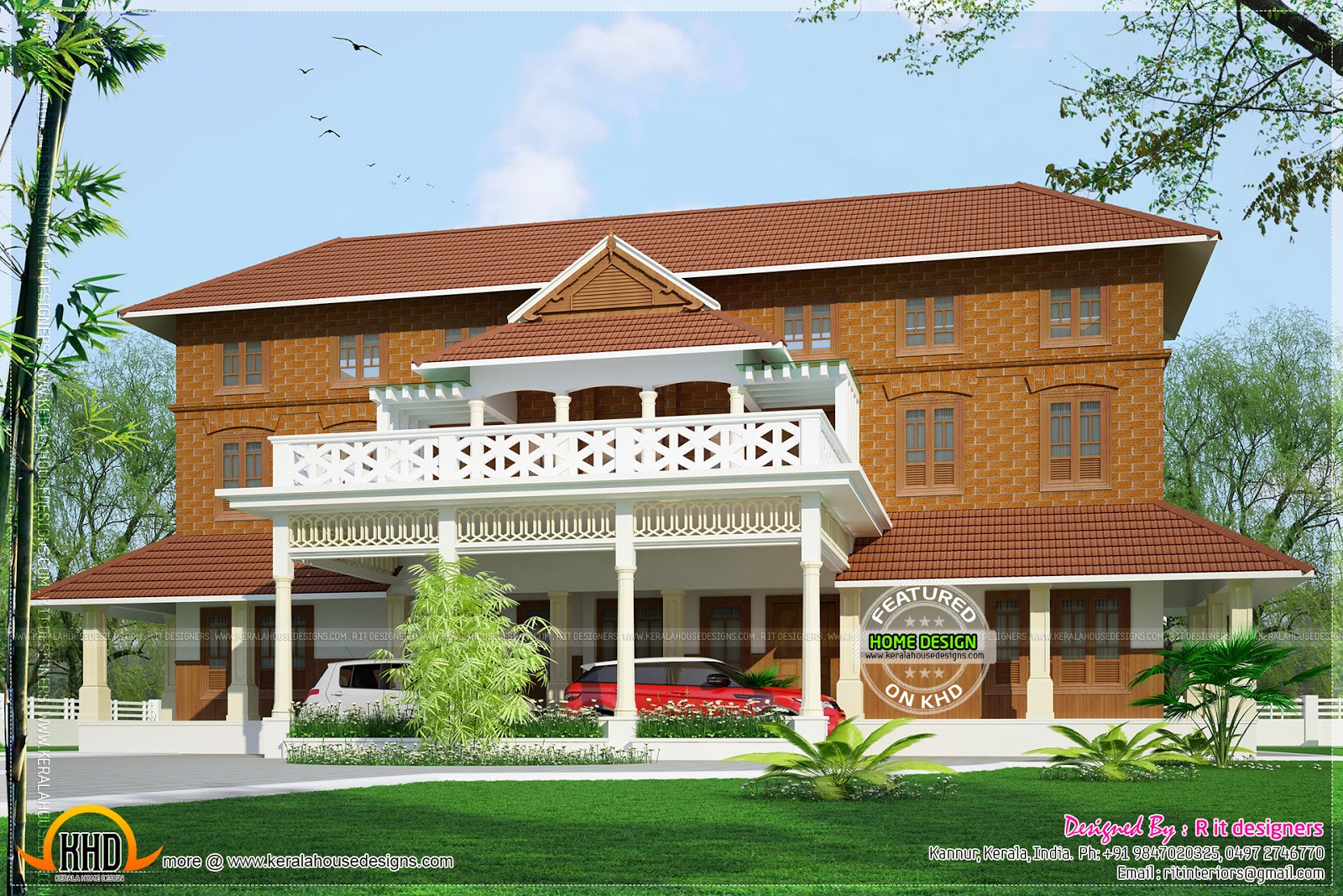 Traditional luxury house in kerala kerala home design for Indian traditional house plans