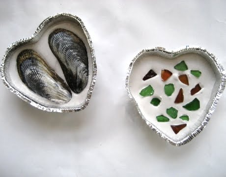 plaster craft with shells
