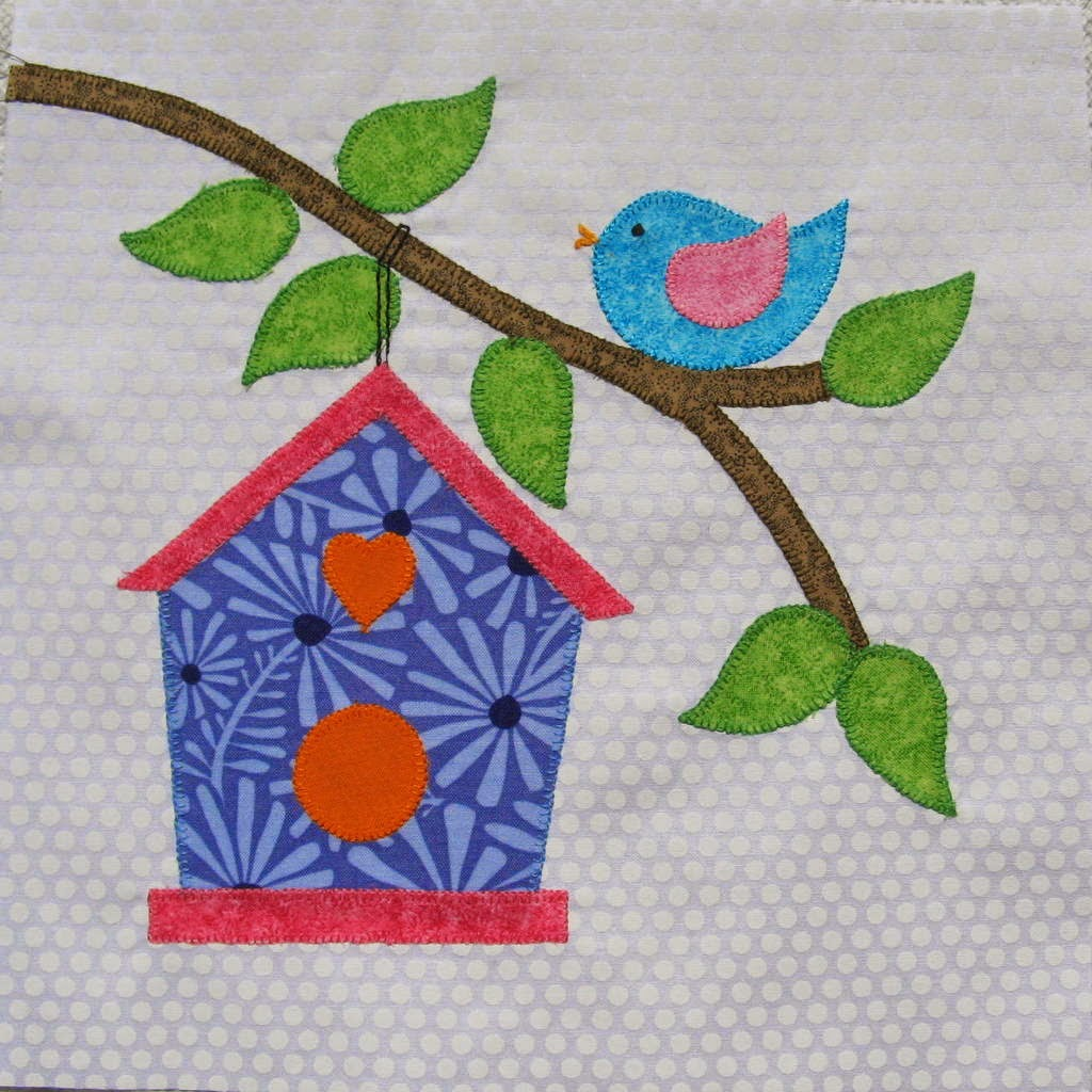 Stitching With 2 Strings: Quilt Along Block #8, Birdhouse : birdhouse quilts - Adamdwight.com