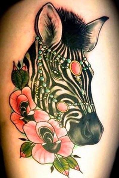 Gambar Tattoo Kuda Zebra