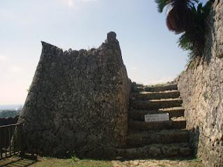 Nakagusuku castle ruins castle wall