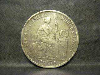 Peru, 1 Sol 1874YJ