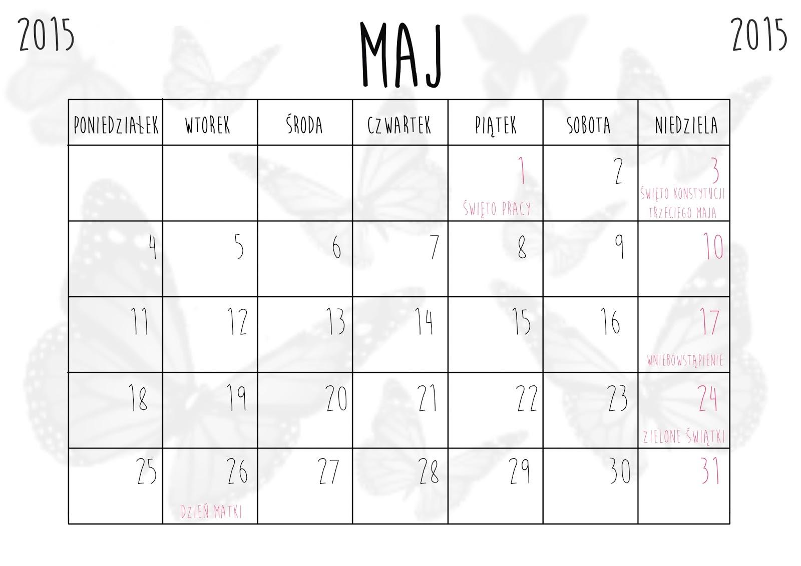 Kartka z kalendarza: maj 2015 - What a mess!