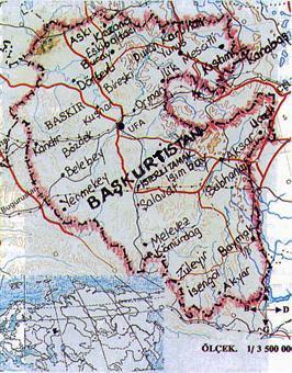 baskırdistan haritasi