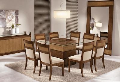 Mesa de jantar-vidro