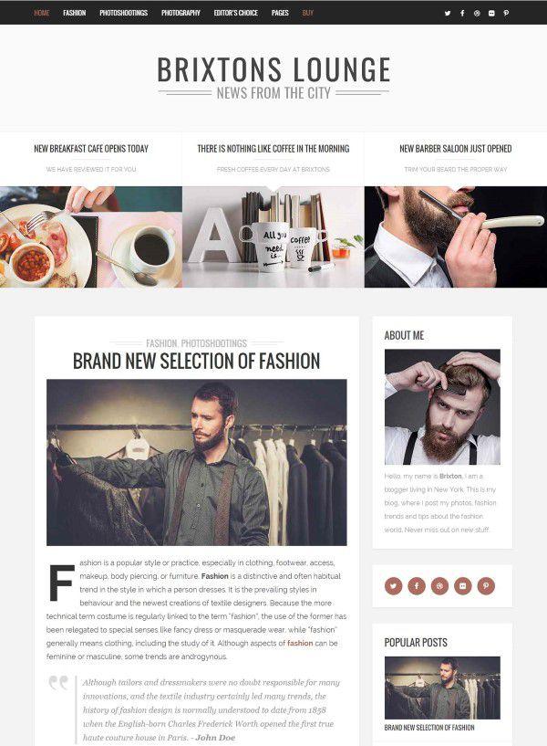 Brixtom minimal theme for any blog