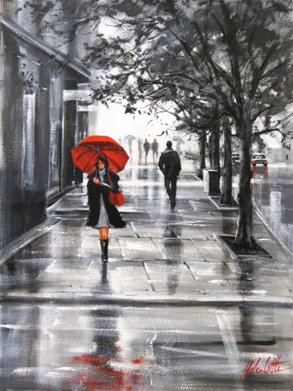 Helen cottle 1962 red umbrella tutt 39 art pittura for Painting red umbrella