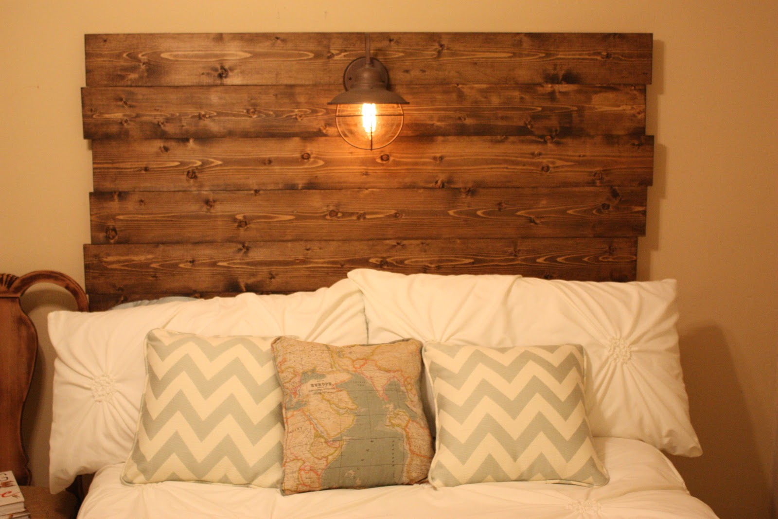 Southern DIY Diary: Wood Headboard How To!. Full resolution‎  picture, nominally Width 1600 Height 1067 pixels, picture with #C77304.