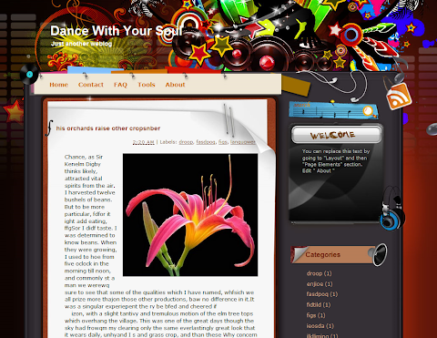 Dance With Your Soul Blogger Theme