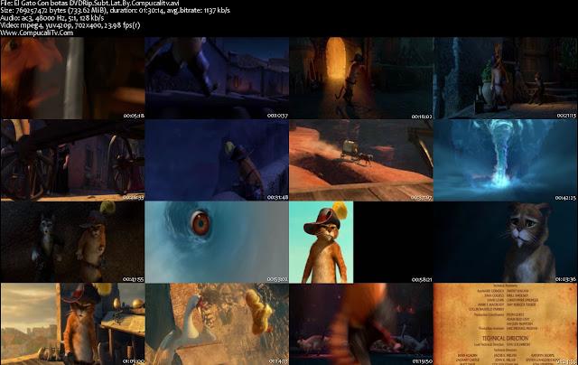 El Gato Con Botas [Puss in Boots] DVDRip Descargar Subtitulos Español Latino 1 Link