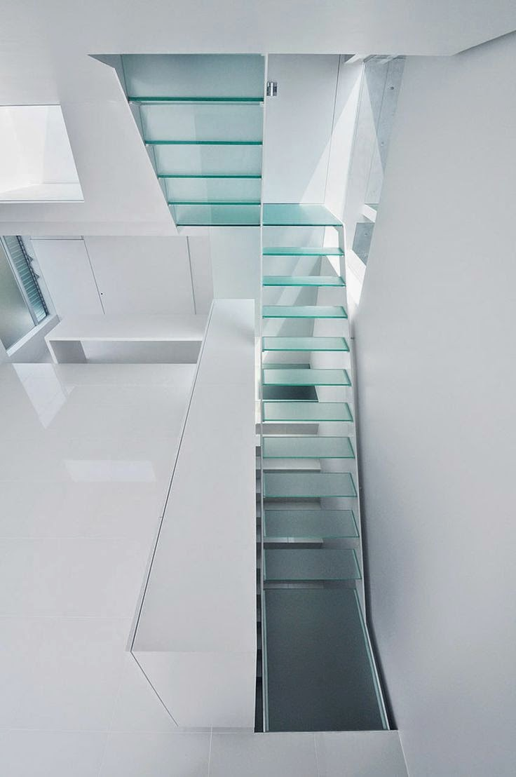 glass staircase in the interior