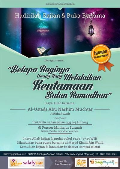 kajian ramadhan, ustadz mukhtar, minhajus sunnah, magelang,download kajian salaf