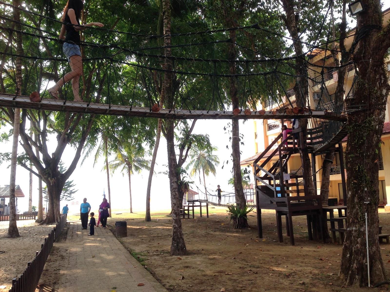 Suspension bridge in The Legend Resort Cherating