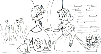 Sofia First Coloring Pages Snow