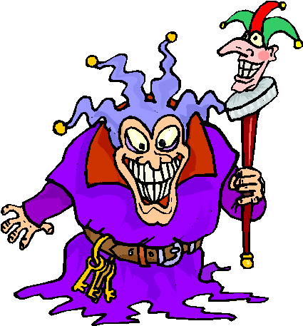 scary clown halloween free clipart