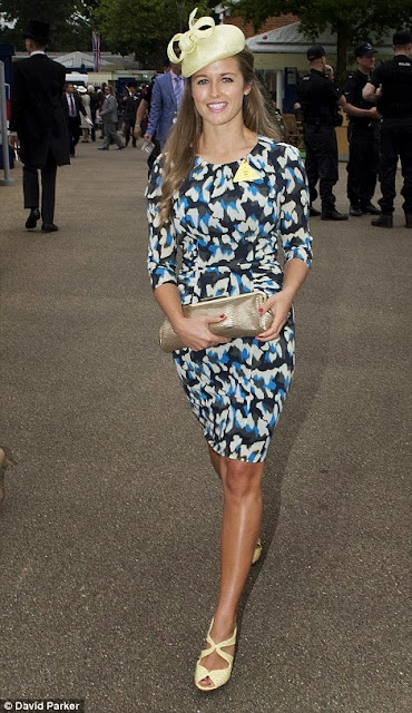 Andy Murray's girlfriend Kim Sears opted for one of her trademark print dresses on day one of Royal Ascot, 2013