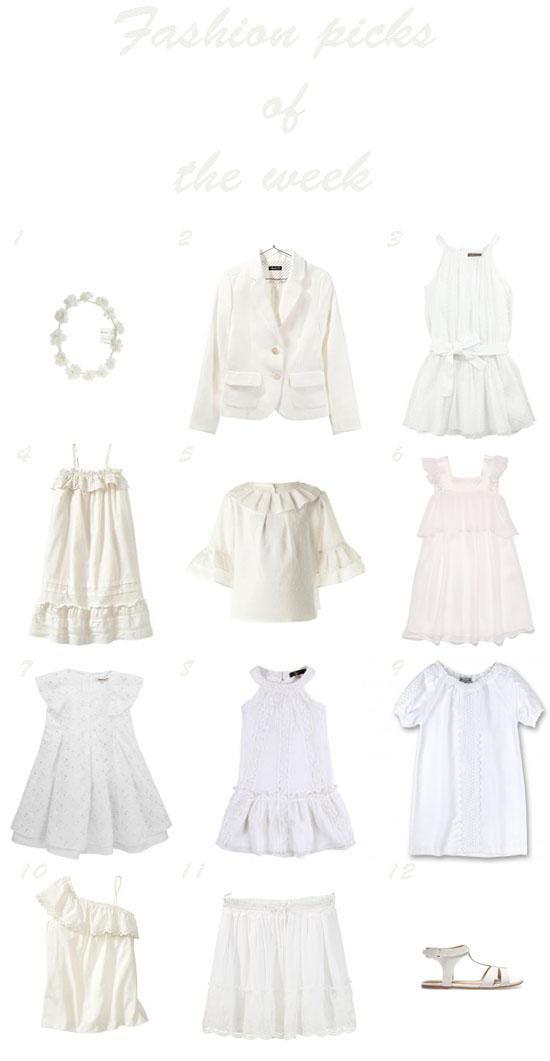 selección moda niña en blanco